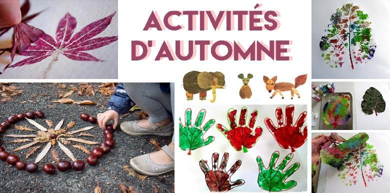 5 Activités Pour Enfants Sur Le Thème De Lautomne Pour Les Vacances