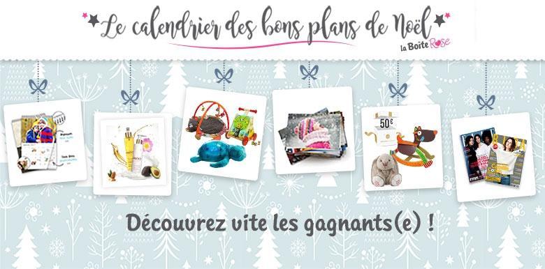 Concours Le Calendrier des Bons Plans de Noël : les premiers gagnants