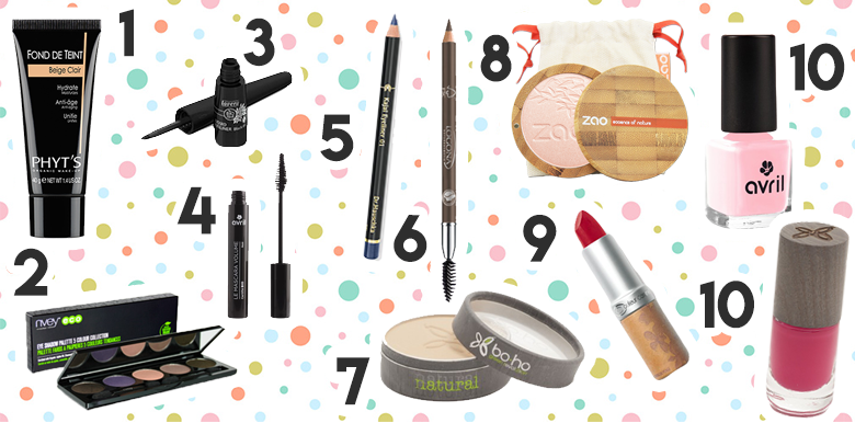 Sélection shopping : place au maquillage bio !!