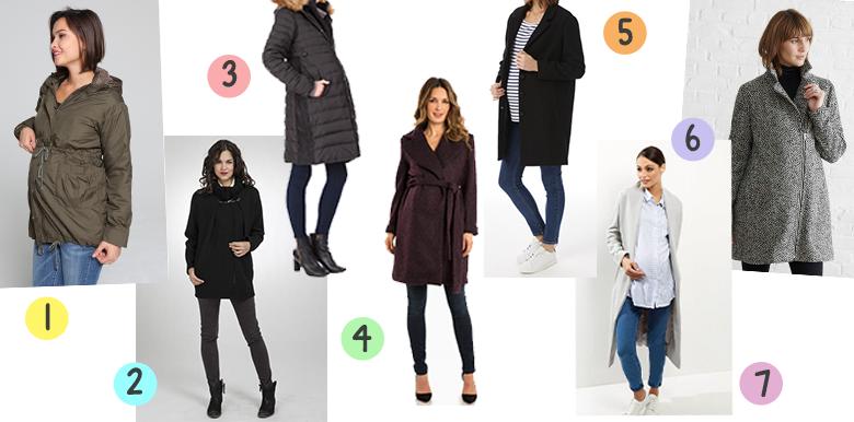 Sélection shopping : des manteaux de grossesse pour l'hiver