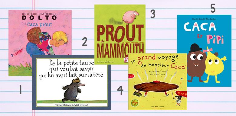 Pipi, caca : sélection de livres drôles et décomplexés