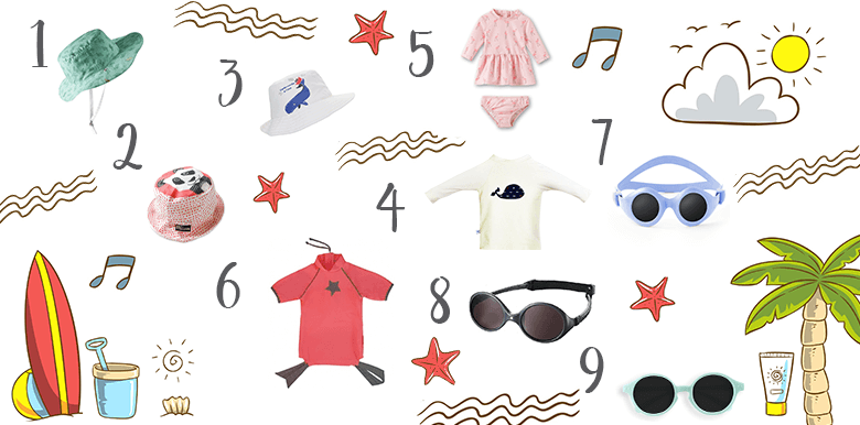 Protéger bébé du soleil : notre sélection shopping !