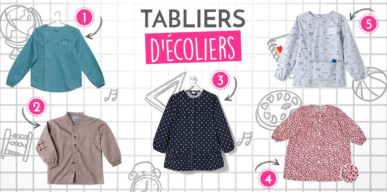 Sélection shopping : les tabliers d'écolier