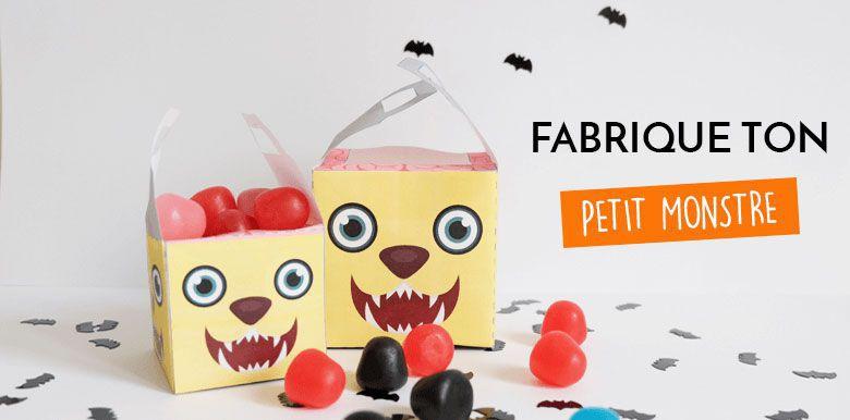 Halloween : ma boîte à bonbons monstre