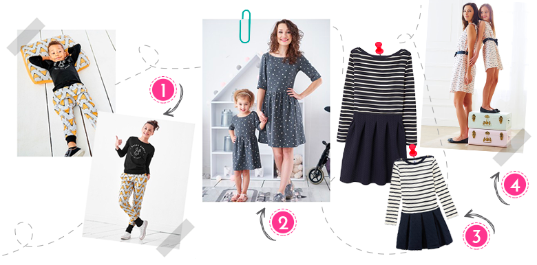Shopping : 10 looks maman-papa-bébé assortis !