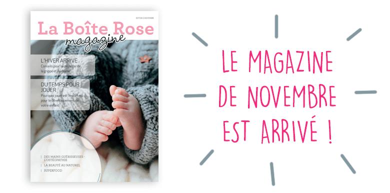 E-magazine La Boîte Rose : le numéro de novembre 2017