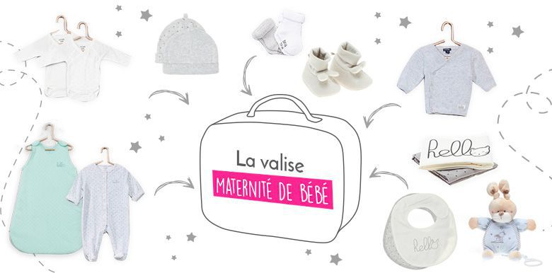 La valise maternité de bébé