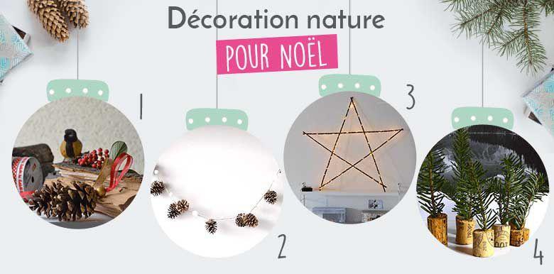 DIY : des déco de Noël très nature (et pas cher)