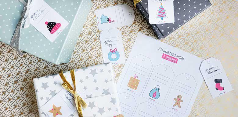 Noël : vos étiquettes cadeaux à imprimer