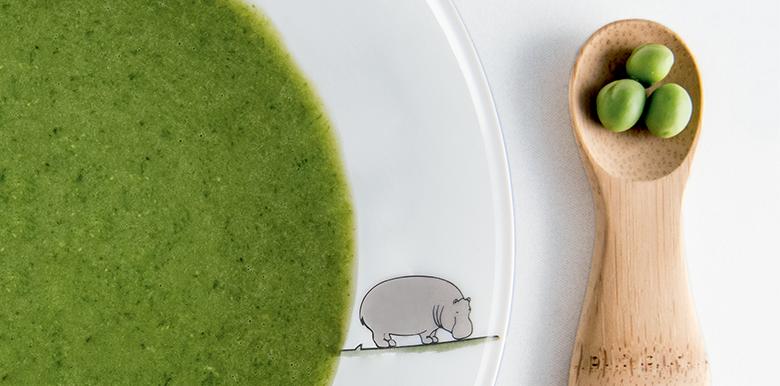 La soupe aux petits pois pour bébé d'Estelle Lefébure