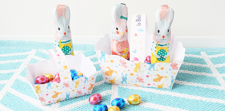 Pâques : le petit panier à imprimer