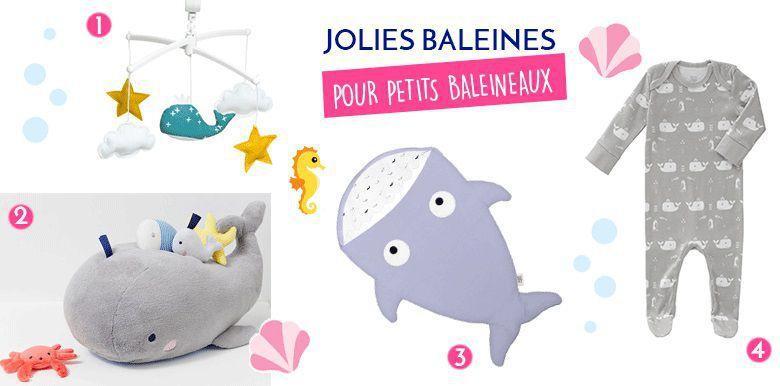 Shopping bébé : baleines pour petit baleineau
