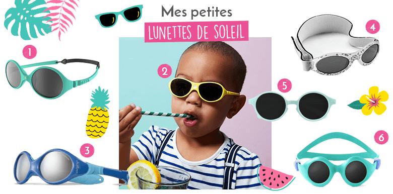 Des lunettes de soleil pour bébé