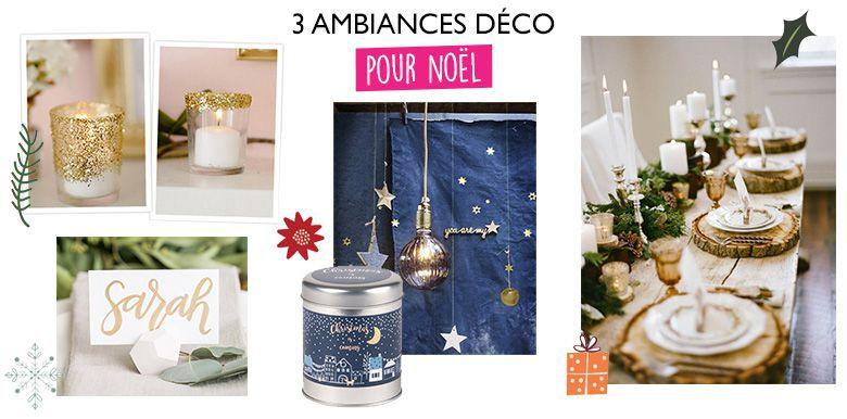 3 ambiances déco pour votre table de Noël