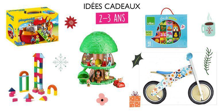 Idées de cadeaux de Noël pour les 2-3 ans