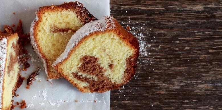 les bons goûters : le gâteau marbré léger