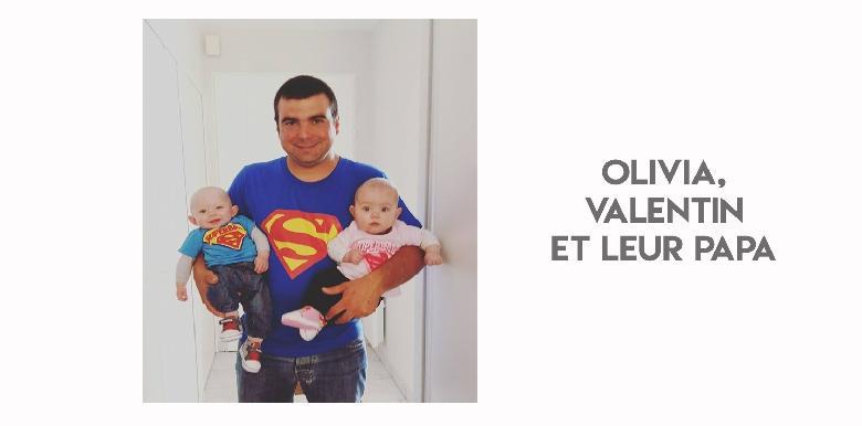 Olivia, Valentin et leur papa