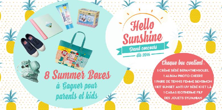 Concours Hello Sunshine : le premier gagnant