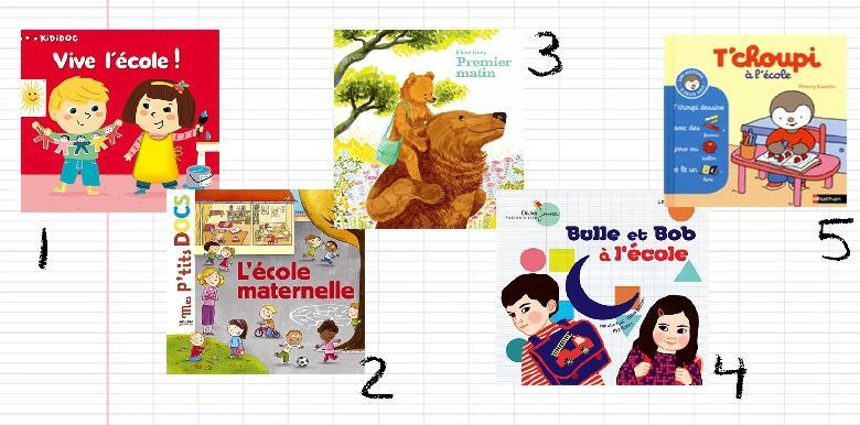 5 livres sur la rentrée en maternelle