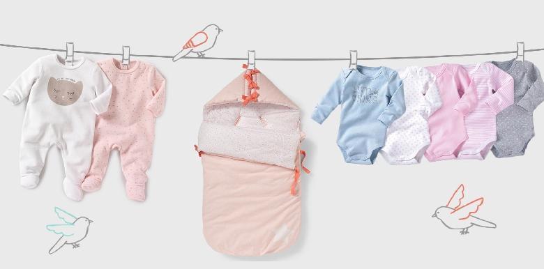 Le premier trousseau de bébé par La Redoute