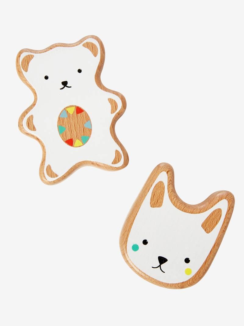 Hochets maracas chat et ourson