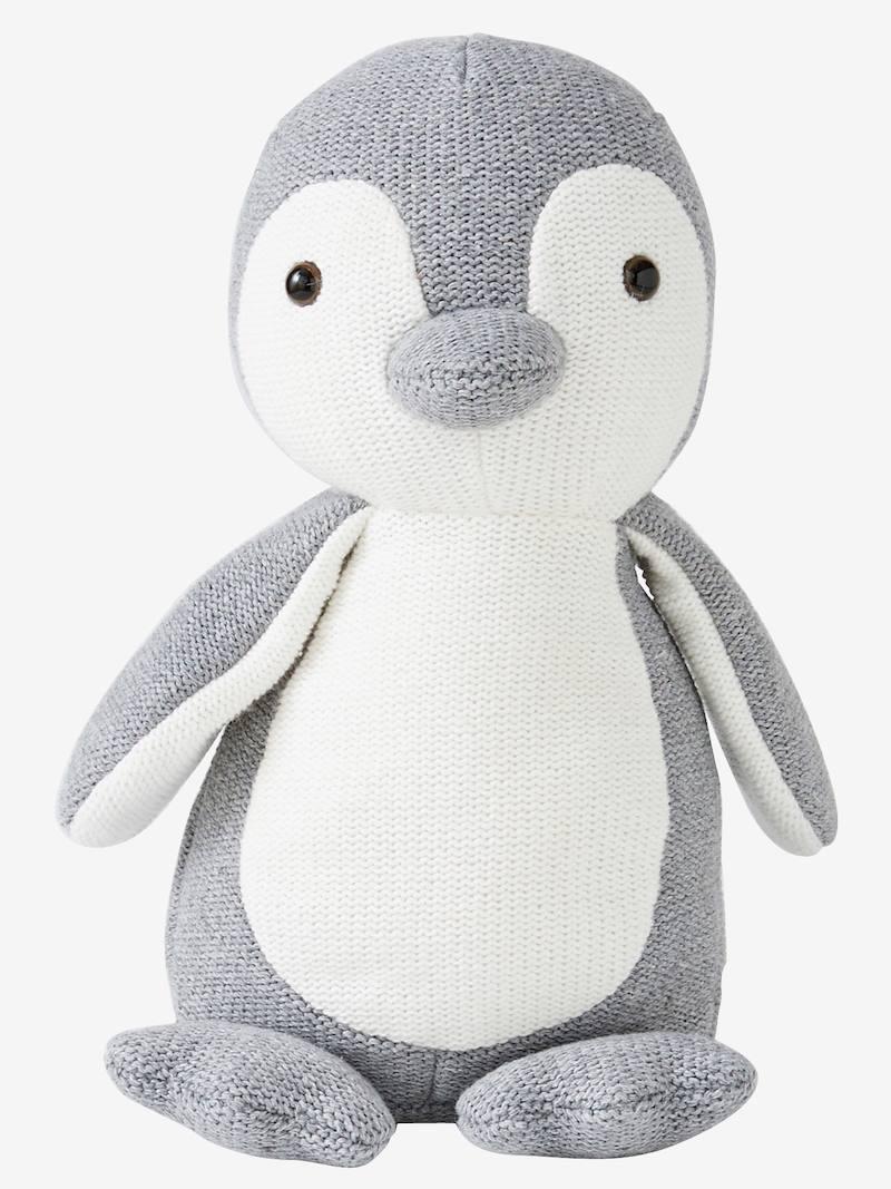 Peluche pingouin tricot
