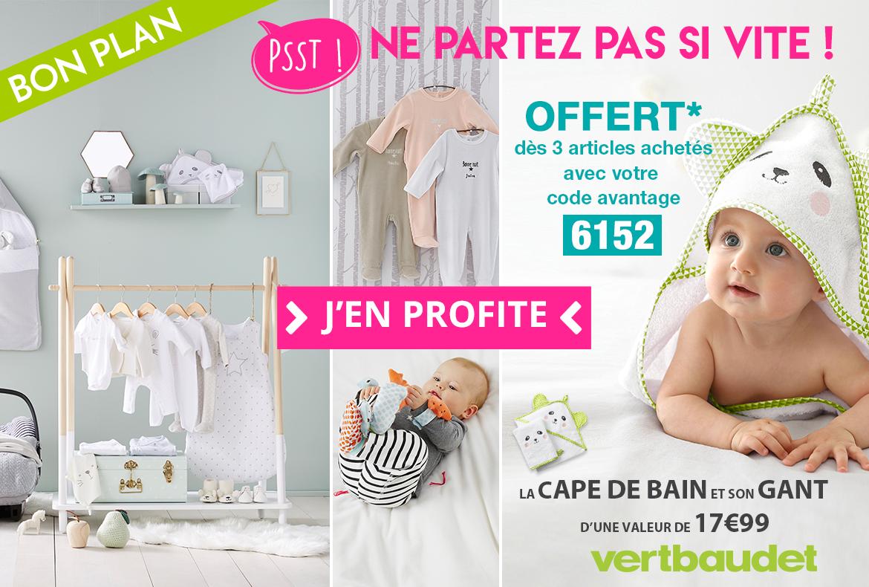 Popup bon plan Vertbaudet aout 2017